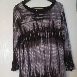 Cable & Gauge Tie Dyed Tunic - Plus Size